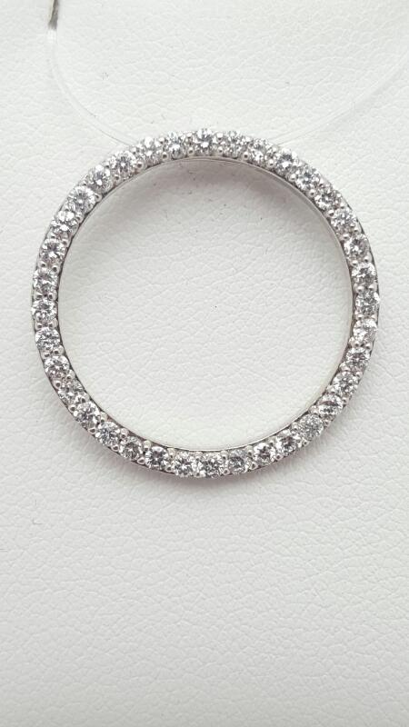 Gold-Multi-Diamond Pendant 70 Diamonds .70 Carat T.W. 14K White Gold 2.7g