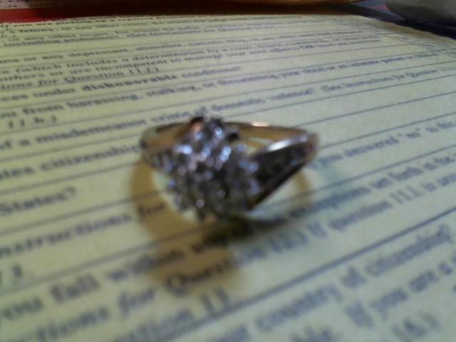 Lady's Diamond Fashion Ring 19 Diamonds .19 Carat T.W. 10K Yellow Gold 4.9g