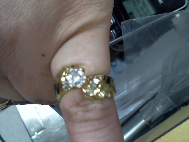 Lady's Diamond Engagement Ring 15 Diamonds 1.03 Carat T.W. 14K Yellow Gold 5.2g