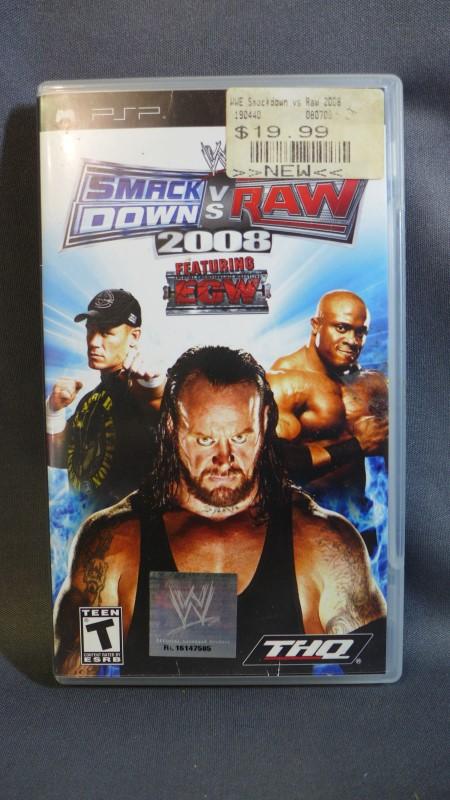 PSP GAME SMACK DOWN VS RAW 2008