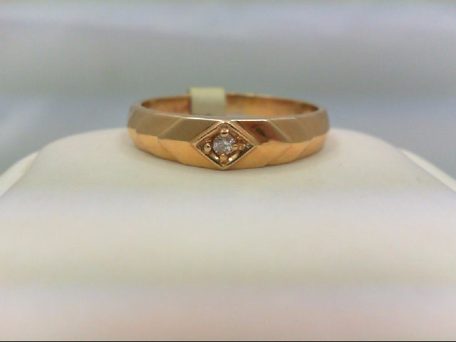 Gent's Diamond Solitaire Ring 0.05 CT. 14K Yellow Gold 3.6g