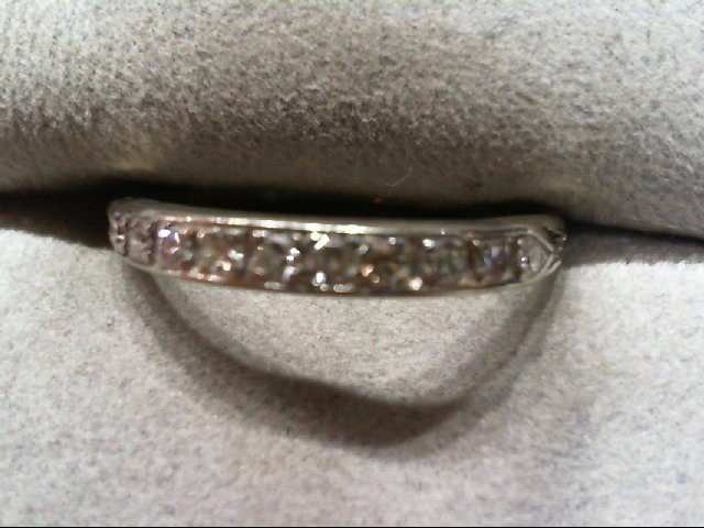 Lady's Diamond Wedding Band 10 Diamonds .20 Carat T.W. 18K White Gold 1.4g