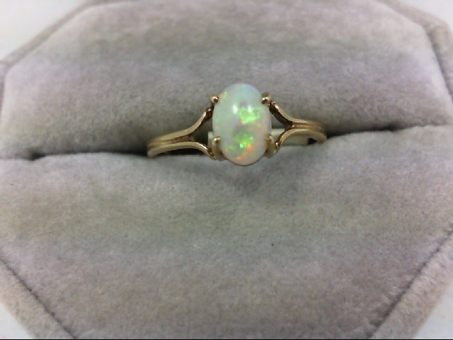 Opal Lady's Stone Ring 9K Yellow Gold 1.5g