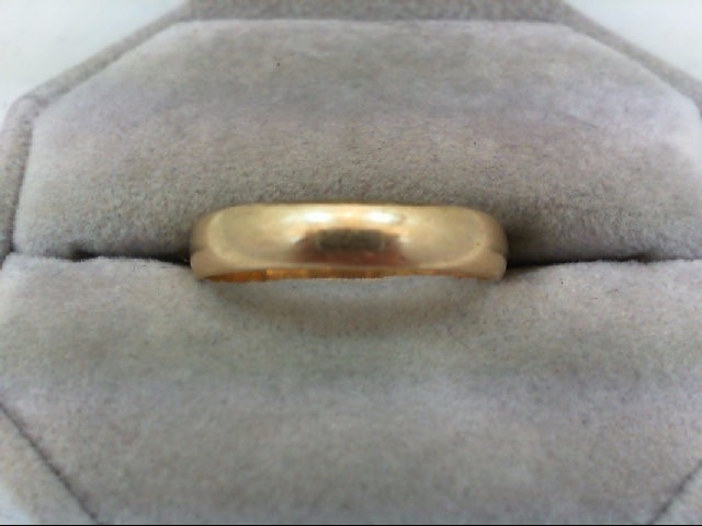Gent's Gold Wedding Band 14K Yellow Gold 2.6g Size:10