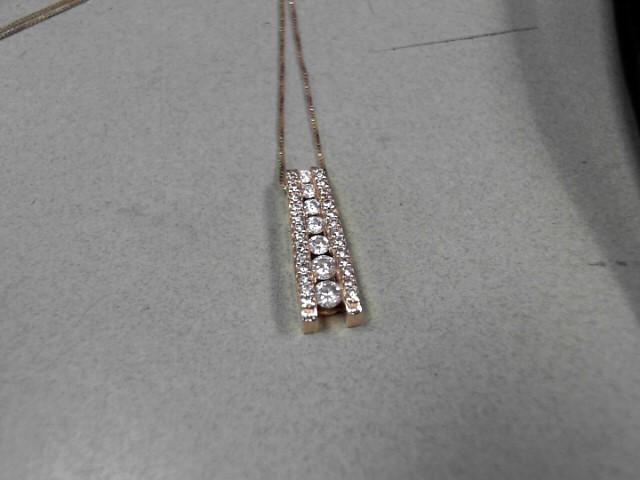 Gold-Multi-Diamond Pendant 33 Diamonds .52 Carat T.W. 14K Yellow Gold 2.9g