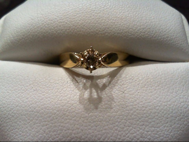 Lady's Diamond Engagement Ring .10 CT. 14K Yellow Gold 1.9g
