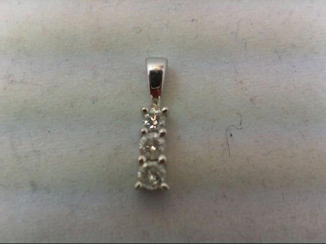 Gold-Multi-Diamond Pendant 3 Diamonds .23 Carat T.W. 14K White Gold 0.9g