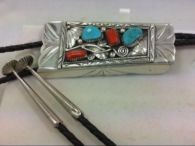 Silver BOLO TIE. 925 Silver 44.5g