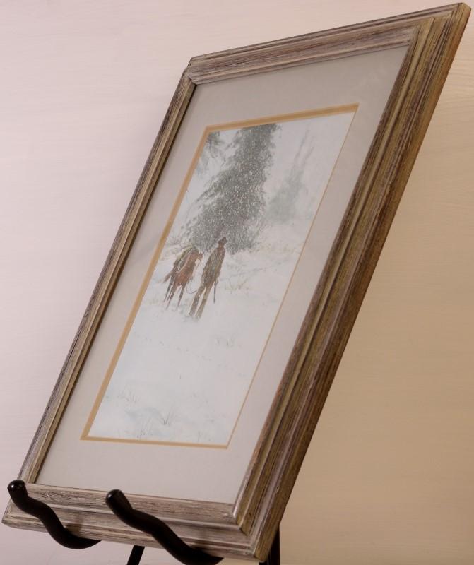 "AUSTIN DEUEL ""SNOWY MORNING"" Original Painting, Framed & Matted"