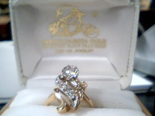 Lady's Diamond Solitaire Ring 6 Diamonds .52 Carat T.W. 14K Yellow Gold 4.8g