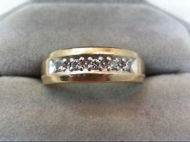 Lady's Diamond Wedding Band 5 Diamonds .15 Carat T.W. 14K Yellow Gold 2.4g