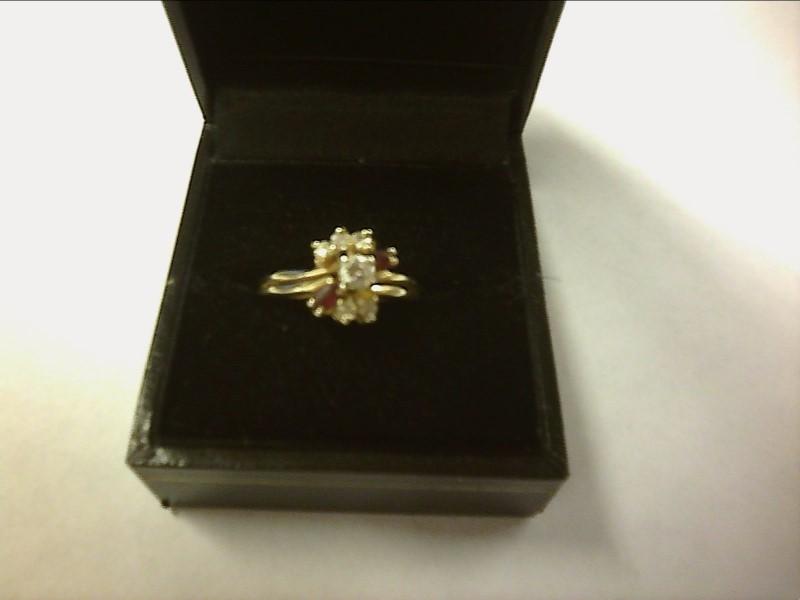 Lady's Diamond Wedding Set 6 Diamonds .20 Carat T.W. 10K Yellow Gold 2.26dwt