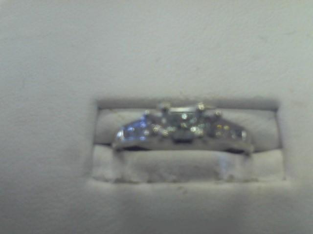 Lady's Diamond Engagement Ring 11 Diamonds .68 Carat T.W. 14K White Gold 2.1dwt