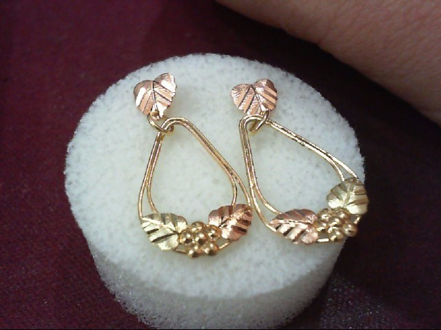 Gold Earrings 10K Tri-color Gold 1.26g