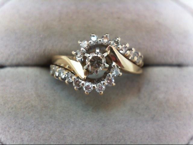 Lady's Diamond Wedding Set 19 Diamonds .51 Carat T.W. 14K Yellow Gold 4.4g