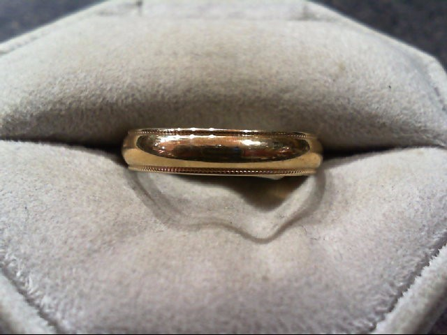 Gent's Gold Wedding Band 14K Yellow Gold 2.5g Size:8.8