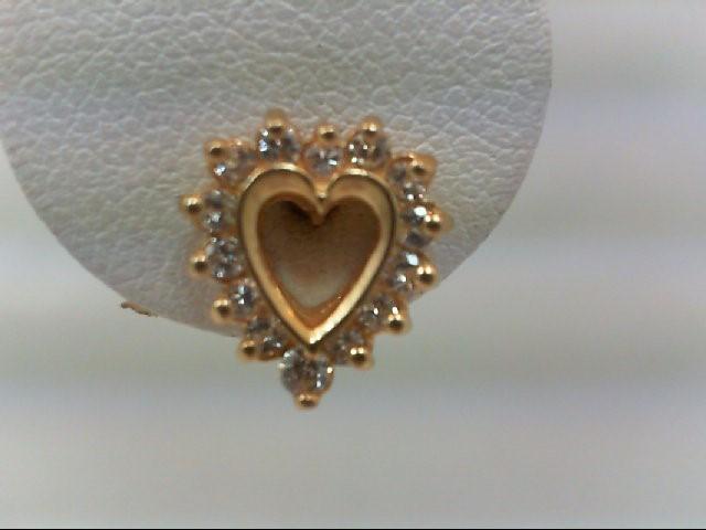 Gold-Diamond Earrings 28 Diamonds .30 Carat T.W. 14K Yellow Gold 2.6g