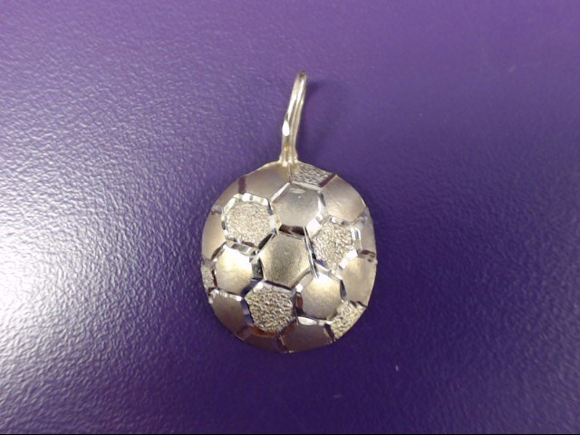 14K Yellow Gold Michael Anthony MA Diamond Cut Soccer Ball Pendant
