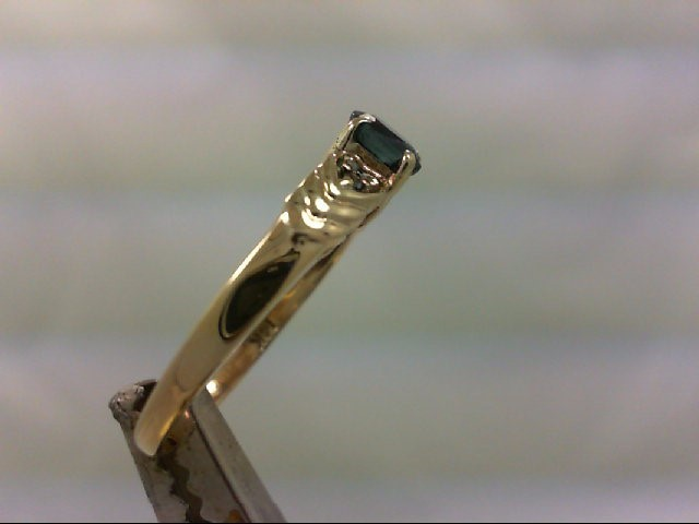 Sapphire Lady's Stone Ring 14K Yellow Gold 2g Size:8.5