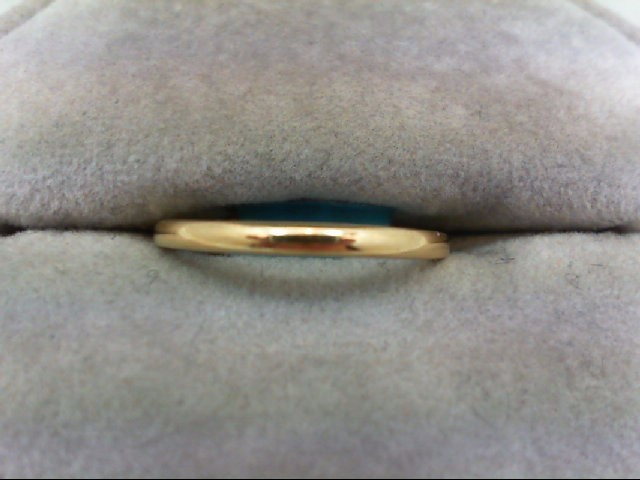 Lady's Gold Wedding Band 14K Yellow Gold 1.3g Size:5.3