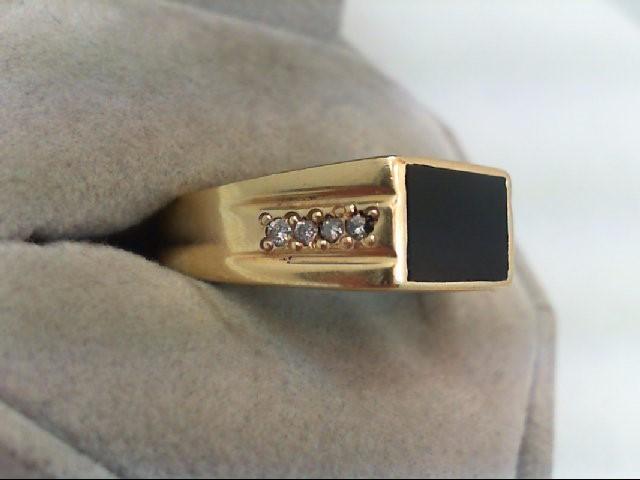 Gent's Diamond Fashion Ring 8 Diamonds .16 Carat T.W. 14K Yellow Gold 6.9g