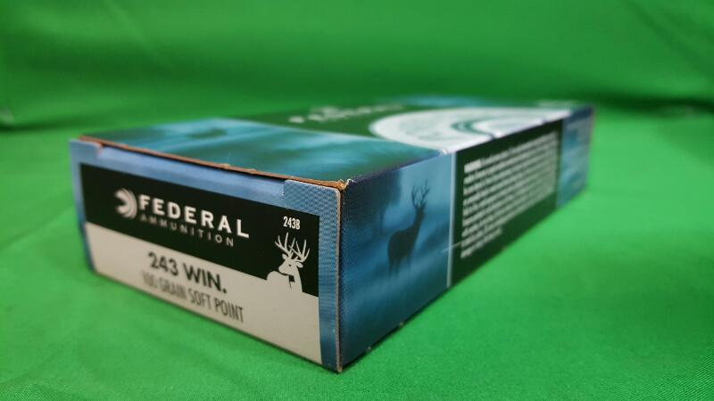 FEDERAL AMMUNITION Ammunition 243 WIN 100GR