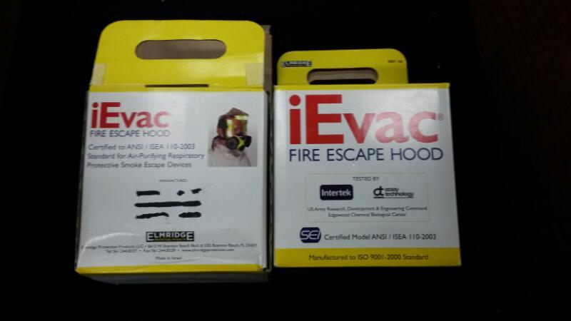 ELMRIDGE / IEVAC Miscellaneous Safety Gear EBP-I80 FIRE ESCAPE HOOD