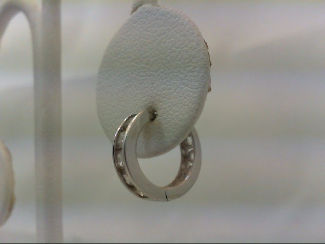 Gold Earrings 14K White Gold 2.96g