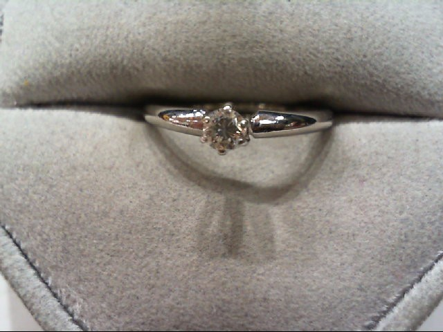 Lady's Diamond Solitaire Ring .15 CT. 14K White Gold 2.3g