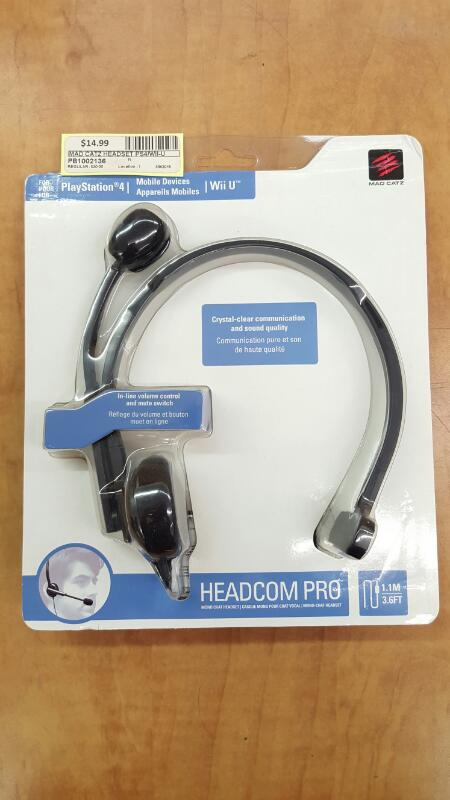MAD CATZ HEADSET PS4/WII-U HEADCOM PRO