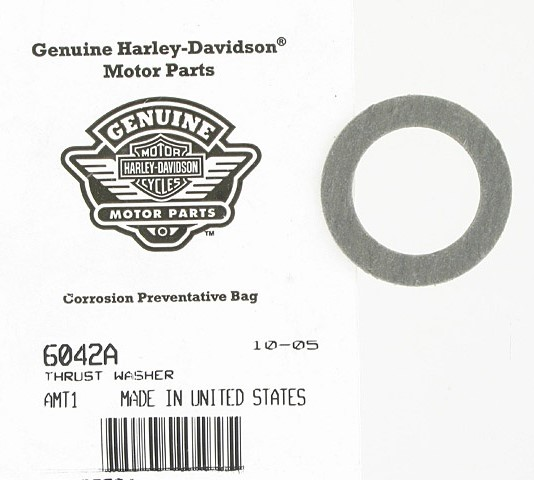 HARLEY DAVIDSON MODEL 6042A,  THRUST WASHER