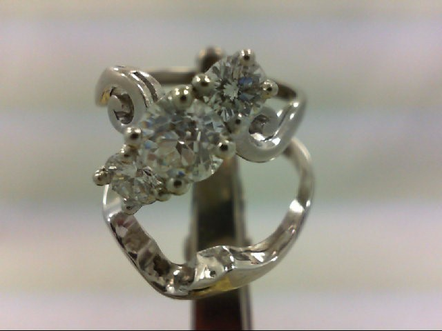 Lady's Diamond Wedding Set 3 Diamonds 1.50 Carat T.W. 14K White Gold 7.71g