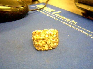 Gent's Diamond Fashion Ring 8 Diamonds 1.20 Carat T.W. 14K Yellow Gold 11.1g