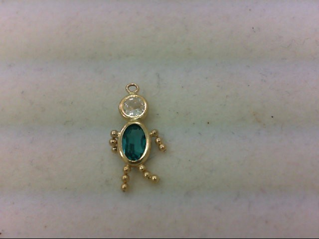 Gold Charm 14K Yellow Gold 0.5g