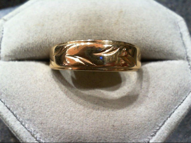 Gent's Gold Wedding Band 14K Yellow Gold 5.1g Size:11.5