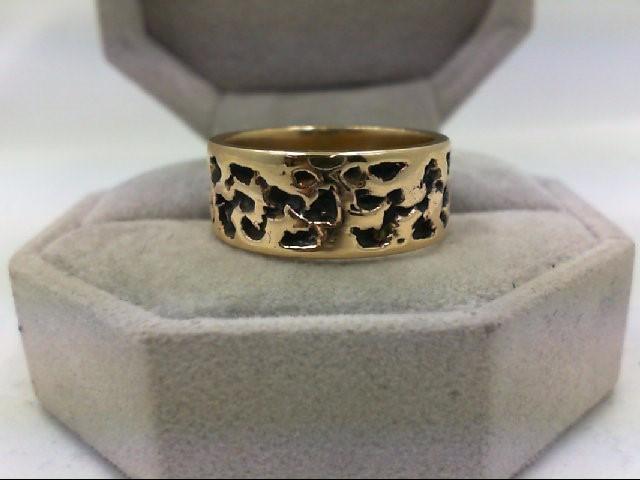 Gent's Gold Ring 14K Antique Gold 8.1g Size:8.3