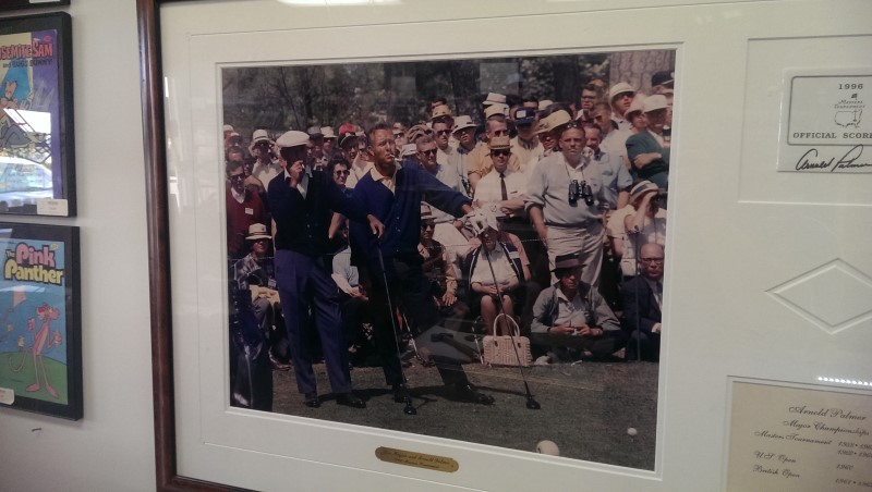 BEN HOGAN AND ARNOLD PALMER THE SMOKING PICTURE FRAMED AND MATTED
