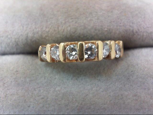 Lady's Diamond Wedding Band 6 Diamonds .44 Carat T.W. 14K Yellow Gold 2.2g