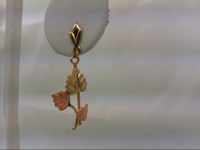 Gold Earrings 10K Tri-color Gold 1.6g