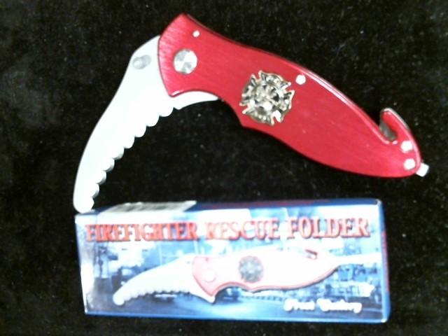 FROST CUTLERY Pocket Knife FIREFIGHTER RESCUE FOLDER