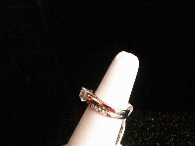 Lady's Diamond Wedding Set 13 Diamonds .84 Carat T.W. 14K White Gold 5.9g