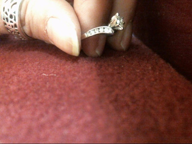 Lady's Diamond Solitaire Ring 11 Diamonds .29 Carat T.W. 14K White Gold 1.7dwt