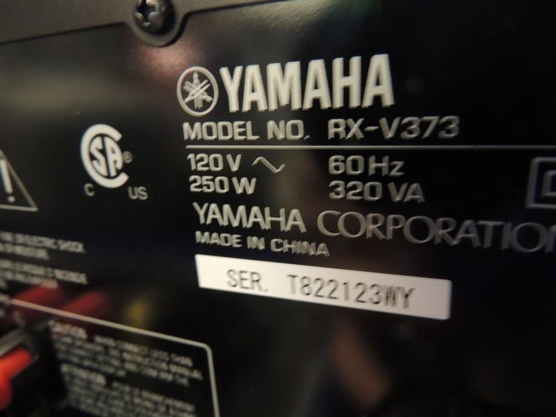 YAMAHA RECEIVER RXV373 5.1