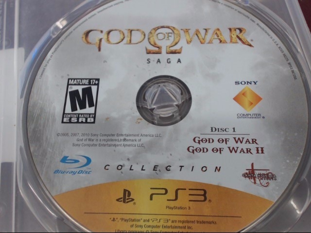 SONY PS3 GOD OF WAR SAGA