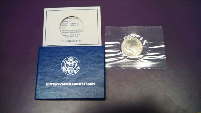 UNITED STATES 1986 LIBERTY HALF DOLLAR, UNCIRCULATED
