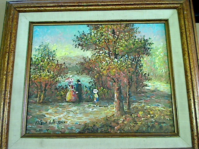 ALEN WALTERS SIGNED OIL PAINTING