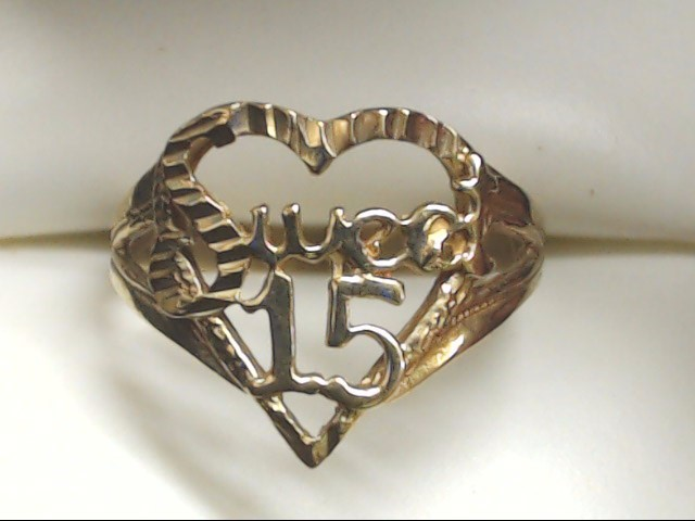 Lady's Gold Ring 10K Yellow Gold 1.8g Size:7.5