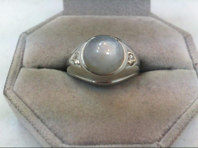 Star Sapphire Gent's Stone & Diamond Ring 2 Diamonds .25 Carat T.W.