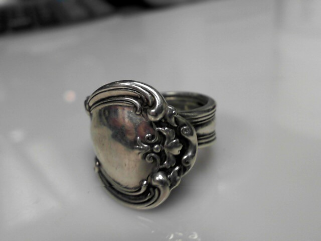 Sterling Silver Fork Ring 16g Size:12