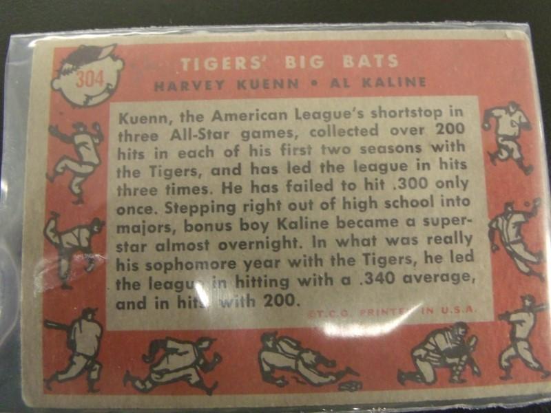 TOPPS #304 TIGERS BIG BATS